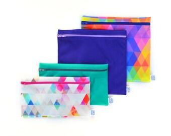 Ensemble sacs réutilisables - Triangles - Reusable bags kit - triangles