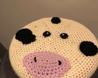 Cow stool cover crochet pattern