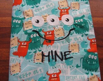 MINE Monster Journal, Diary, Notebook Cover - BOOK INCLUDED