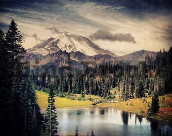 Mount Rainier Photography, Cascades, Travel Photography, Digital Download