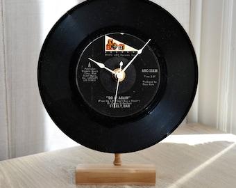 "Record Clock: STEELY DAN ""Do It Again"" Desk or Wall Clock 45 rpm Vinyl Record"