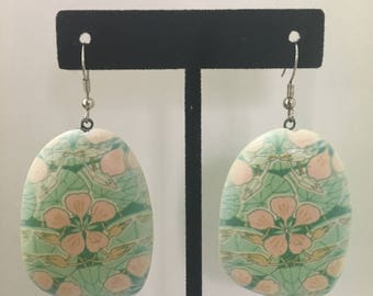 Wooden Floral Bead Earring