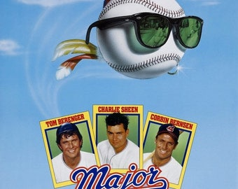Back to School Sale: MAJOR LEAGUE Movie Poster 1989 Charlie Sheen