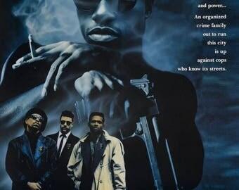 Back to School Sale: New Jack City 1991 Drama film/Blaxploitation Movie POSTER Wesley Snipes Mario Van Peebles
