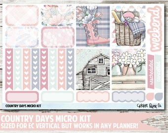 Country Days Micro Kit Planner Stickers