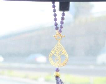 Sufi Jewelry, Mevlana Gift, Rumi Golden Charm, Dervish Decoration, Mystic Car Hanger, Spiritual Rear Mirror Hanger, Shams Dangler Mevlana