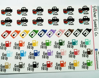 Car Care Planner Stickers
