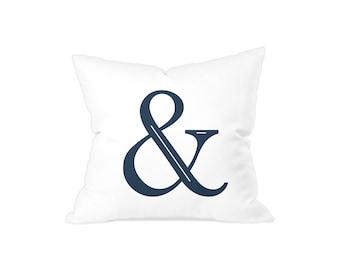 Ampersand throw cushion