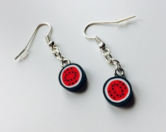 Sale | Watermelon | Fruit | Slice | Polymer Clay | Cute | Earrings