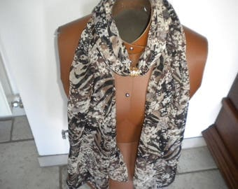 handmade jewelry scarf multicolor fabric