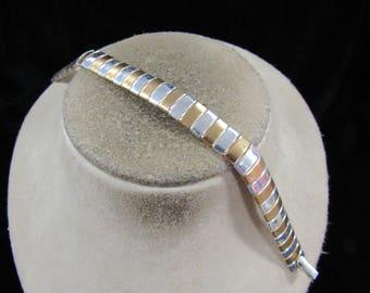 Vintage Signed Avon Two Tone Bracelet