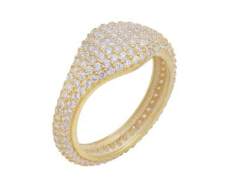CZ Pinky Ring