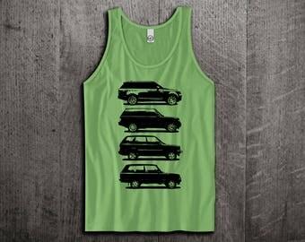 Land Rover Tank Top, Defender t shirts, Jeep shirts, Jeep tanks, Land Rover evolution shirts, Truck t shirts, Unisex Tank Tops Motomotiveink