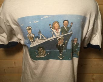 Vintage 1986 NBC Today Show On The Norway 50/50 T-Shirt Great Color Made in USA