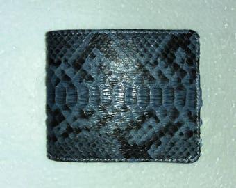 GRAY PYTHON WALLET Genuine Python Snakeskin Bifold Wallet