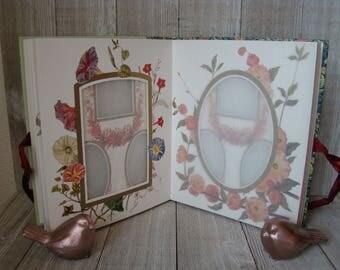 Vintage Photo Album, Victorian Roses Album, Photo Album, Photograph Album, Illistrated Photo Album