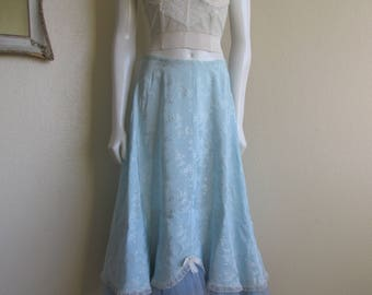 vintage pin up 1940s petticoat crinoline slip- Cherie of Hollywood small