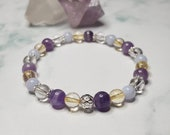 Amethyst bracelet & Citrine bracelet ~ Fibromyalgia Bracelet ~ Blue Lace Agate bracelet ~ fibromyalgia jewelry ~ pain relief jewelry