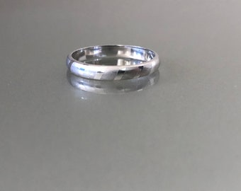 Matte and Shiny Striped Sterling Silver Band Ring