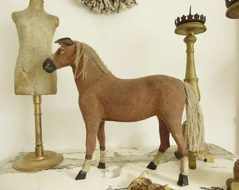 Antique PULL TOY, Rocking Horse, 1900-1920, Germany...CHARMANT!