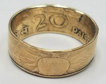 20 Paise India Coin Ring