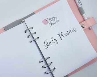 A5 Study Planner | Student Planner | Study Planner inserts for A5 ring planners | A5 printed planner inserts | printed A5 student planner