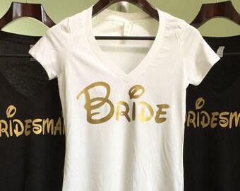 Disney Bachelorette Party Shirts Bride Shirt Gold Bridesmaid