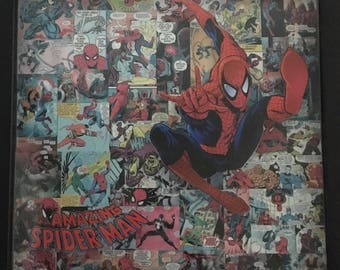 ON SALE!  The Amazing Spider-Man Shadowbox Collage | 13 x 13 | Marvel Series