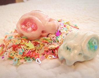 Pastel Cat Skull Necklace