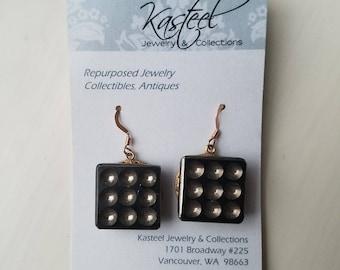 1960s button earrings