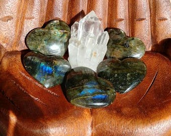 Super Flashy Labradorite Hearts