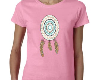LADIES DreamCatcher Never Stop Dreaming Ladies T-Shirt Native American Shirts