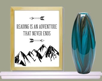 Instant digital download, printable,reading poster, classroom, reading 8x10