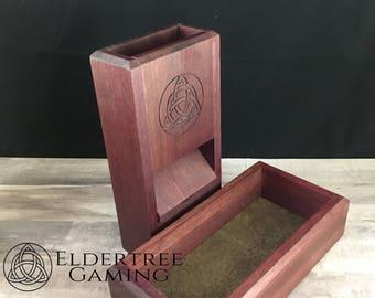 Premium Dice Tower with dice storage - Purpleheart - Eldertree Gaming