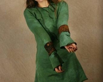 Dress with ornamental seams