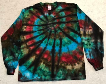 Large Ice Dyed Spiral Long Sleeve Shirt