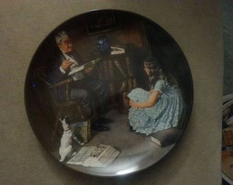 "Norman Rockwell Collector Plate ""The Storyteller"""