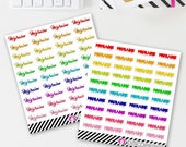 Migraine Stickers (40 matte stickers, for ECLP, Happy Planner, Filofax, Travelers Notebooks, Kikki K, Passion Planner, etc.)
