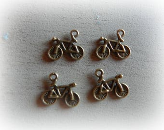 4 charms 15 * 13 mm bronze metal bicycle