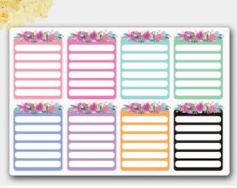 Flower Full Boxes, Flower Stickers,Planner Box Stickers, Erin Condren Planner,Flower Sticker Pack,Beautiful Sticker,Happy Planner Stickers,