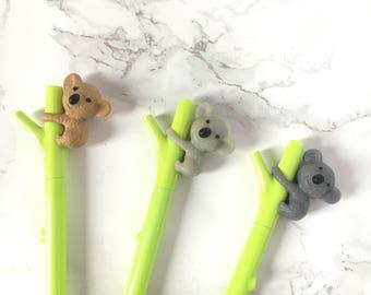 Koala Pen - Koala Pens - Koalas Pens - Koalas Pen - Black Ink Gel Pen - Black Ink Koala Pen