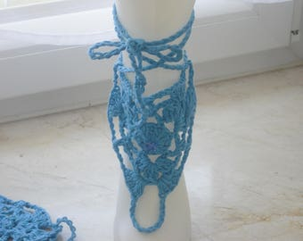 Barefoot sandals - Beach Sandals - crochet Sandals - Women's Sandals - foot jewelry - handmade