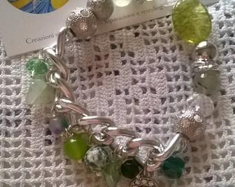Bracelet with green tourmaline