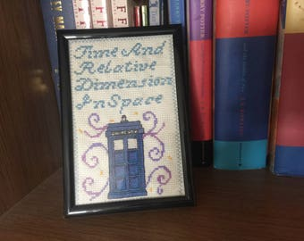 T.A.R.D.I.S Dr. Who Cross-Stitch