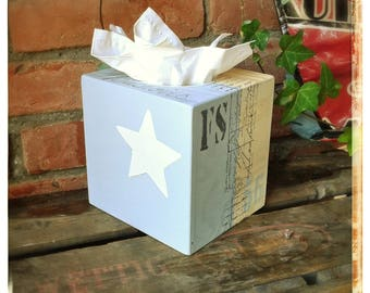"""Star"" square tissue box"
