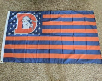 PRE-SEASON SALE 30% Off Denver Broncos Throwback, Broncos Nation Flag or Banner 3' x 5' Special Edition