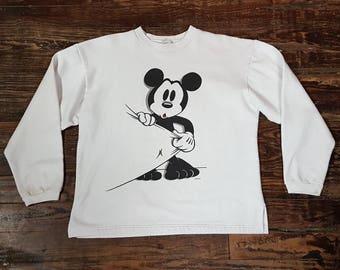 Vintage Disney's Mickey Mouse Crew Neck Sweatshirt