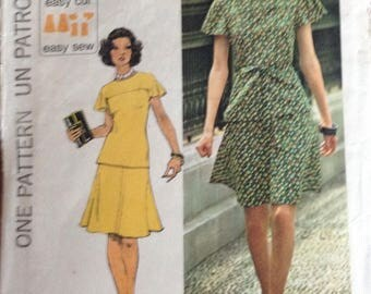 Jiffy summer top and skirt Simplicity pattern