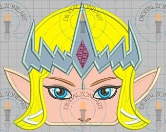 Princess Zelda Ocarina of Time Hooded Towel-Princess Zelda Ocarina of Time Applique-Machine Embroidery Designs - INSTANT DOWNLOAD