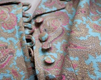 Funky 60's paisley Dress coat
